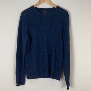 J. Crew Navy blue wool sweater size medium